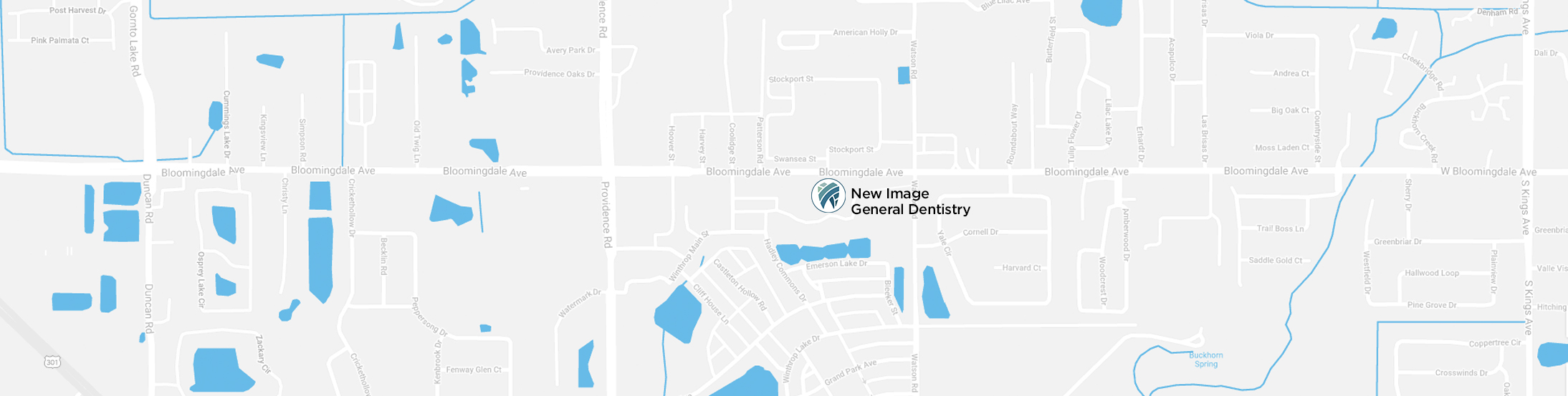 Google Map location for New Image Dentistry